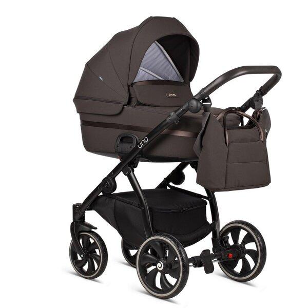 Tutis Комбинирана бебешка количка Uno 2 в 1 Кафява col.147 Tiramissu
