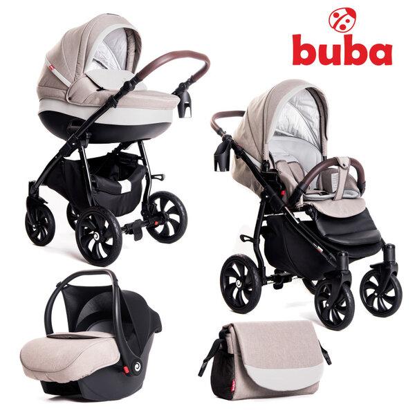 Buba Комбинирана бебешка количка 3 в 1 Estilo col.919 Светлосива