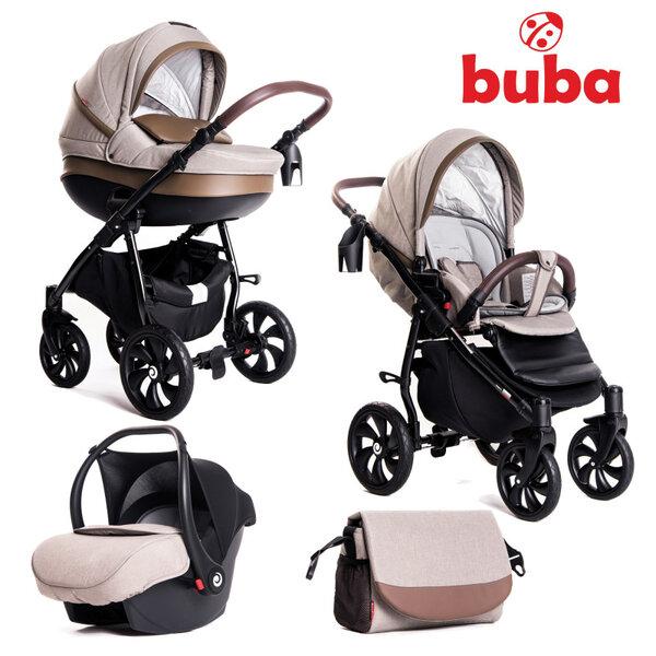 Buba Комбинирана бебешка количка 3 в 1 Estilo col.920 Бежова