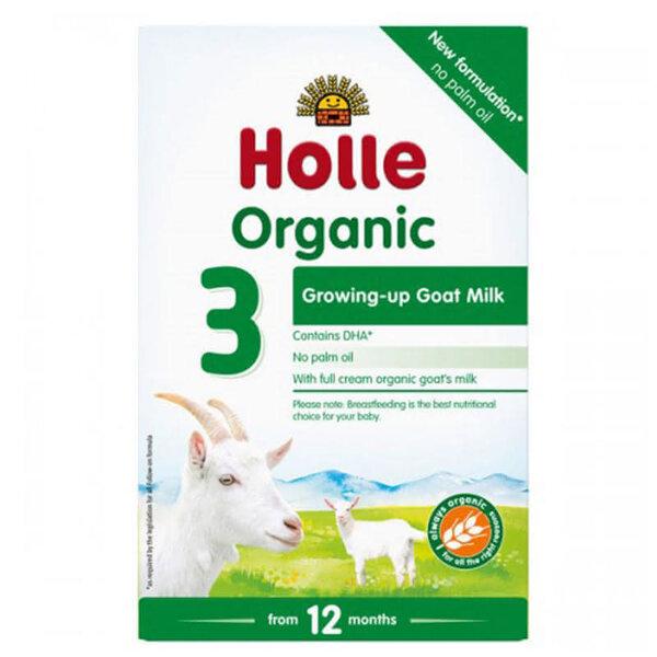 Holle Бебешко адаптирано козе мляко Organic 3 12+ 400 гр.