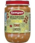Semper Бебешко пюре Vego Еко Фетучини с домати и леща 8+ 190 гр.
