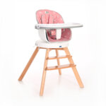 Lorelli Столче за хранене с дървени крака и ротация Napoli Grey Hexagons 10100472132-Copy