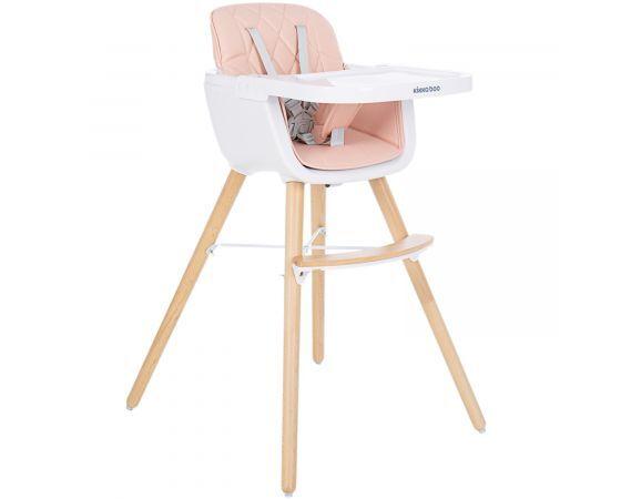 Kikkaboo Дървен стол за хранене Woody Pink 31004010083