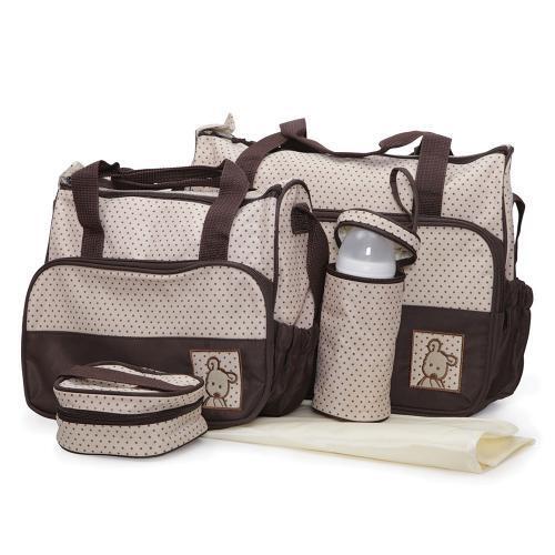 Moni Комплект чанти за аксесоари Stella кафяв