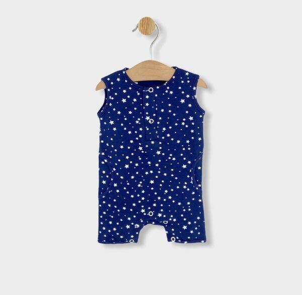 Rainy Бебешки гащеризон Stars 56 - 80см. син