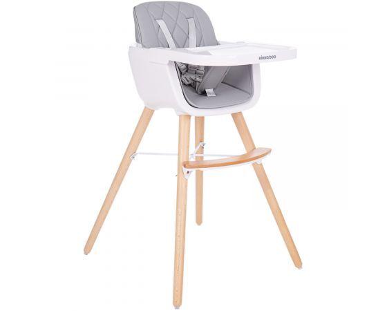Kikkaboo Дървен стол за хранене Woody Grey 31004010082