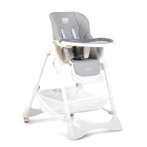 Moni Детско столче за хранене Chocolate сив 106871