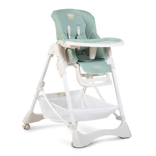 Moni Детско столче за хранене Chocolate светлосин 106870