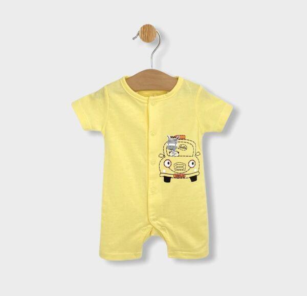 Rainy Бебешки гащеризон Количка с къс ръкав 56 - 80см. жълт