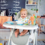 Lorelli Столче за хранене PARTY Blue Surf Leather 10100372144