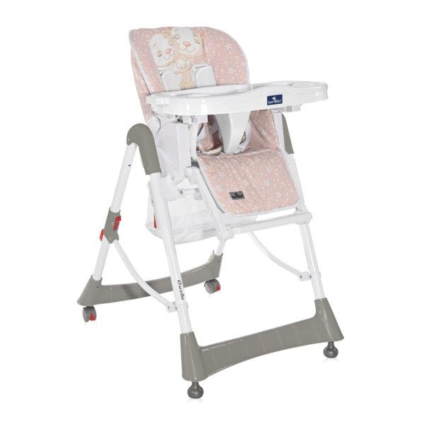 Lorelli Столче за хранене Gusto Satin Pink Hug 10100362141