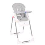 Lorelli Столче за хранене Cryspi Cool Grey Leather 10100442110