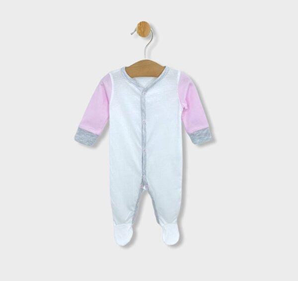 Rainy Бебешки гащеризон Soft за момиче 56-68см. розов
