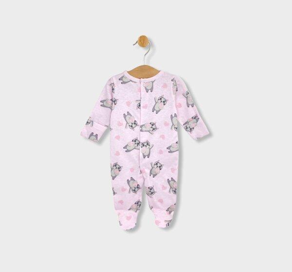 Rainy Бебешки гащеризон с ръкавички Котета 48 - 62см. розов