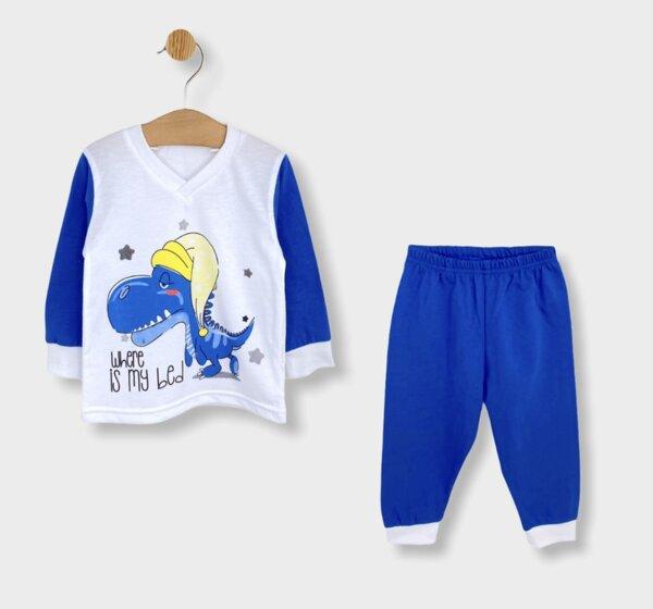 Rainy Детска пижама с дълъг ръкав Where is my bed за момче
