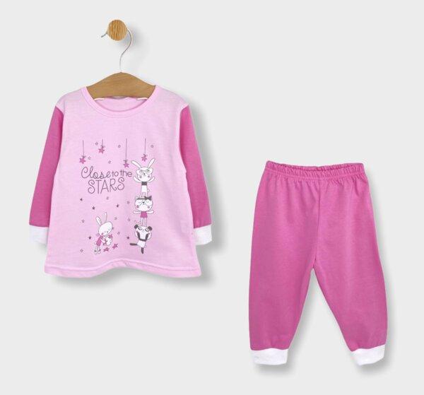 Rainy Детска пижама с дълъг ръкав Close to the stars за момиче