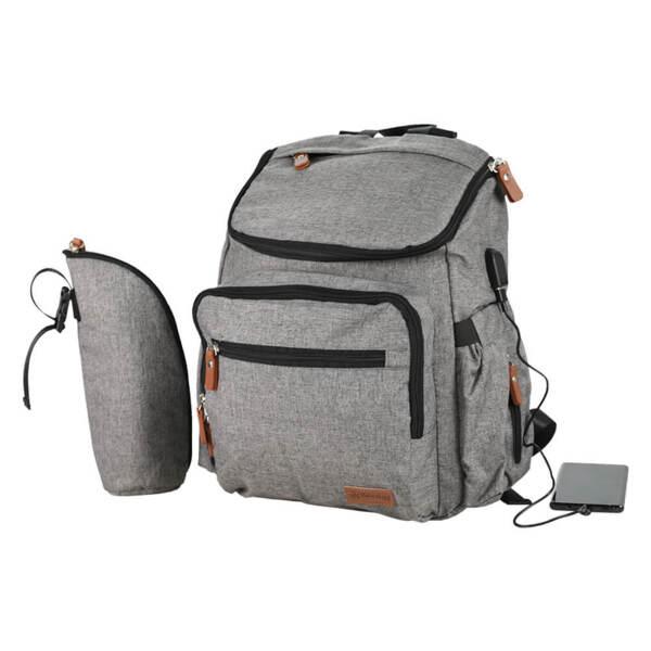 Bebe Stars Чанта за количка Mama Bag с USB Grey 590-186