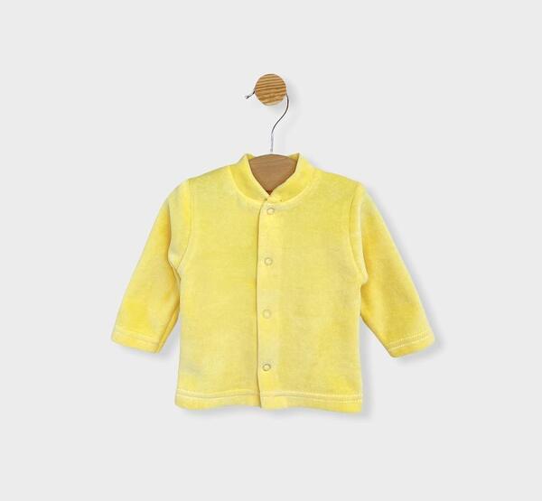 Rainy Бебешка плюшена жилетка с предно закопчаване 48-74 см жълта