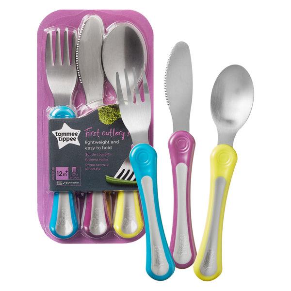 Tommee Tippee Първи комплект метални прибори за хранене Explora 12м+ 44660871