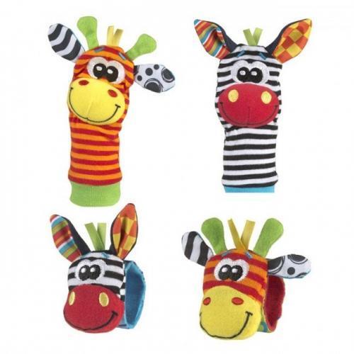 Playgro Бебешки гривни-дрънкалки и чорапки - джунгла 0328
