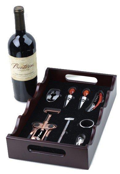 Луксозен поднос с аксесоари за вино - 1709