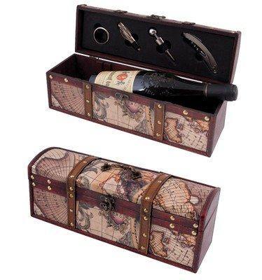 Луксозна кутия за вино с 4 аксесоара