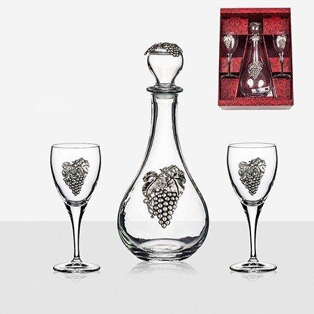 Сет бутилка и 2 чаши за вино