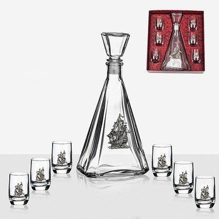 Сет бутилка с 6 чаши за ракия