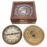 Компас Sea Club Antic SC8521 в луксозна дървена кутия