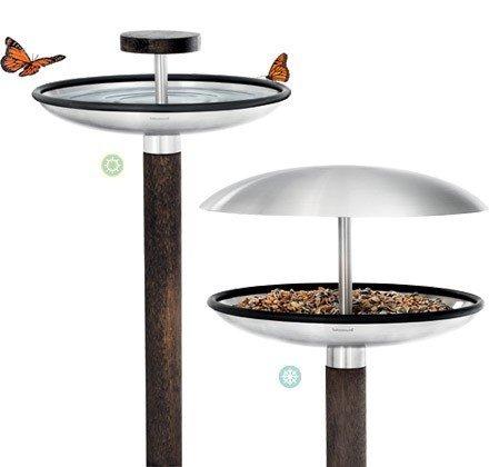 Хранилка и баня за птици