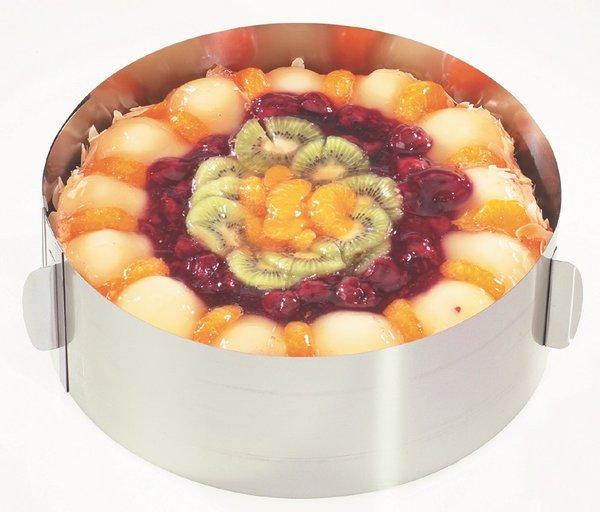 GEFU Кръгла форма за торта с регулиране - Ø16 - Ø32 см. - h - 8,5 см.