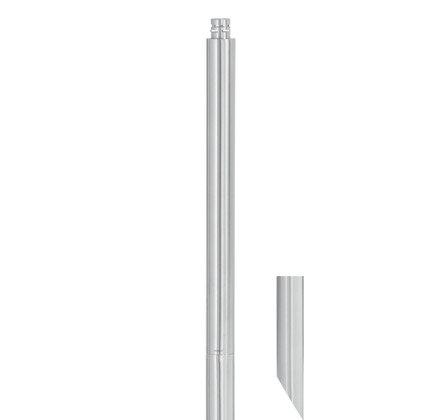 Градински факел цилиндричен - метален