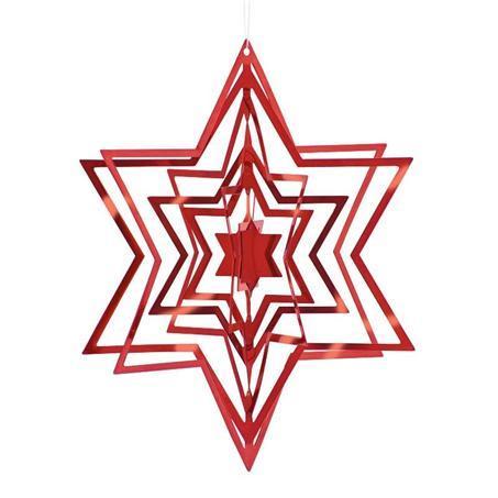 PHILIPPI 3D Коледна звезда STAR - червена - L размер