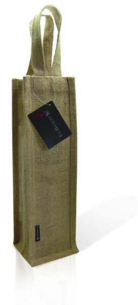 """Vin Bouquet Луксозна чантичка за бутилки """"JUTE"""" с прозорче"""