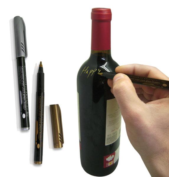 """Vin Bouquet Маркери за надписване на бутилки  """" GOLD AND SILVER """" - 2 бр."""