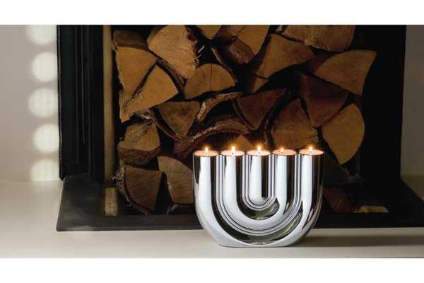 "PHILIPPI   Свещник ""DOUBLE U"" - за 5 чаени свещи"