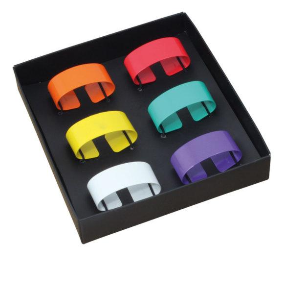 HERDMAR Пръстени за салфетки - 6 бр.- различни цветове