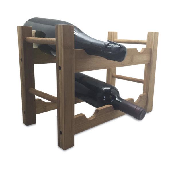 Vin Bouquet Стойка за бутилки от бамбук - 6 бутилки