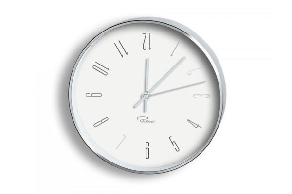 "PHILIPPI  Часовник за стена ""TEMPUS"" - W3 - бял"