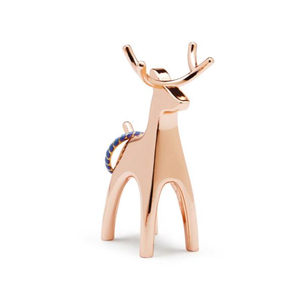 """UMBRA Поставка за пръстени """"ANIGRAM REINDEER"""" - елен - цвят мед"""