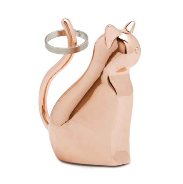 """UMBRA Поставка за пръстени """"ANIGRAM CAT"""" - котка - цвят мед"""