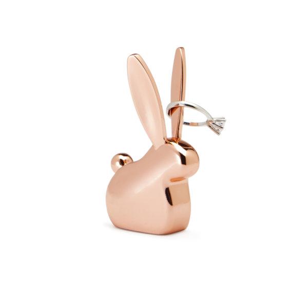 """UMBRA Поставка за пръстени """"ANIGRAM BUNNY"""" - зайче - цвят мед"""