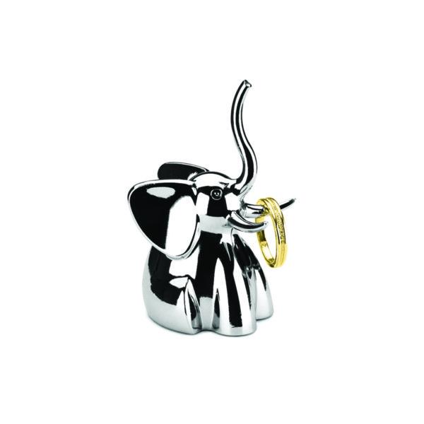 """UMBRA Поставка за пръстени """"ZOOLA ELEPHANT"""" - слон - цвят хром"""