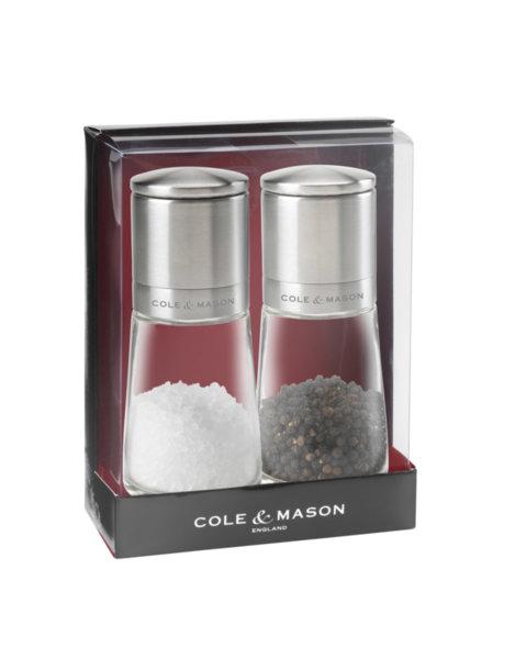 """COLE & MASON Комплект мелнички за сол и пипер """"CLIFTON"""" - 14,5 см."""