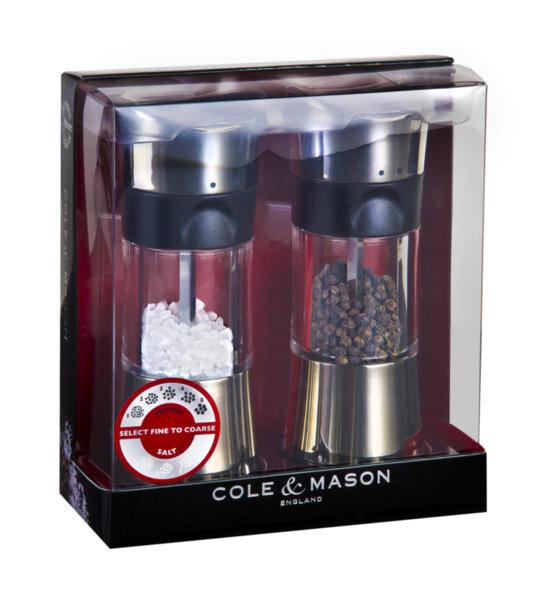 "COLE & MASON К-т мелнички за сол и пипер ""HORSHAM"" - 15,4 см. - с механизъм за прецизност"