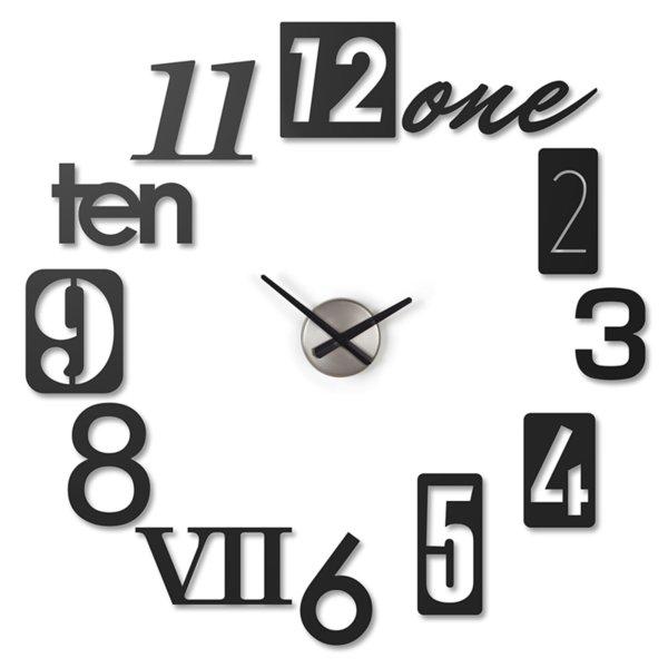 "UMBRA Часовник за стена ""NUMBRA"" - черен"