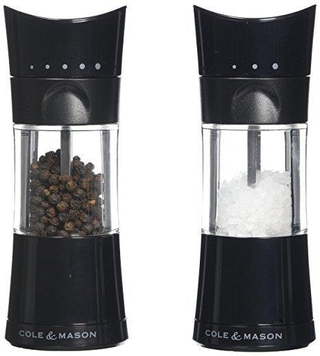 "COLE & MASON К-т мелнички за сол и пипер ""HARROGATE"" - с механизъм за прецизност - 15,4 см."