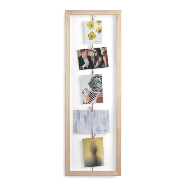 """UMBRA Рамка за снимки  """"CLOTHESLINE FLIP"""" - цвят натурално дърво"""