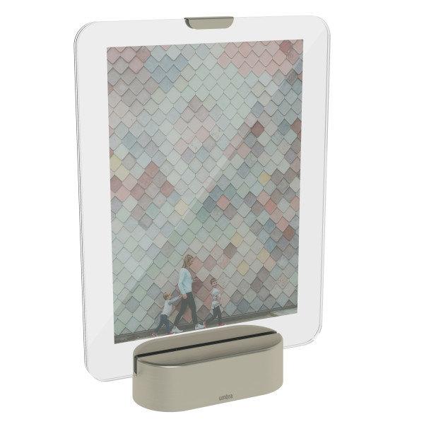 """UMBRA Рамка за снимки с LED светлина """"GLO"""" - 13х18см - сребрист цвят"""