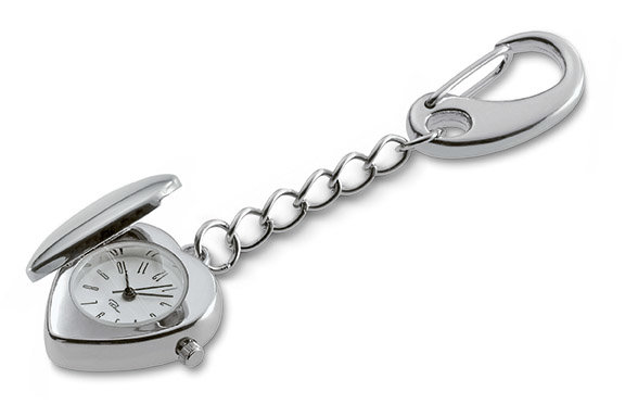 PHILIPPI Ключодържател  с часовник LOVE